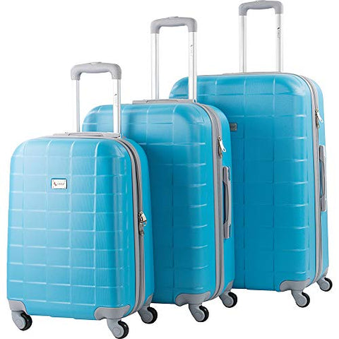AMKA Palette Hardside 3-Piece Expandable Spinner Upright Luggage Set-Turquoise