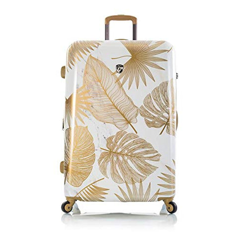 "Heys Oasis White/Gold Leaf 30"" Fashion Spinner Luggage"