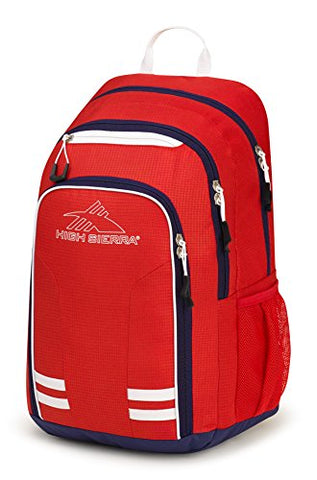 High Sierra Blaise Backpack, Crimson/True Navy/White
