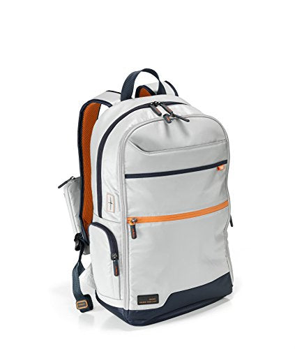 Hedgren Junction 15-Inch Laptop Backpack W/Retractable USB Cable Dedicated Battery Storage (Battery not Included) and RFID Protection (Light Grey/Dark Blue)