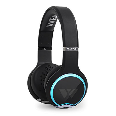 Wearhaus Arc Bluetooth Headphones, Best On-Ear Hd Stereo W/ Custom Light Ring, Wireless Sharing,