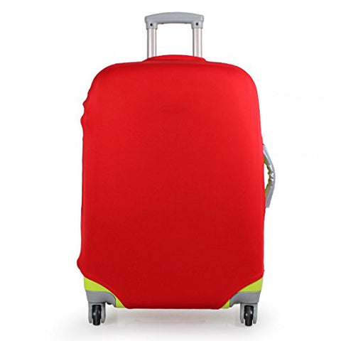 "Washable Foldable Luggage Cover Protector Fits 20/24/28 Inch Suitcase Protective Covers (28"", Red)"