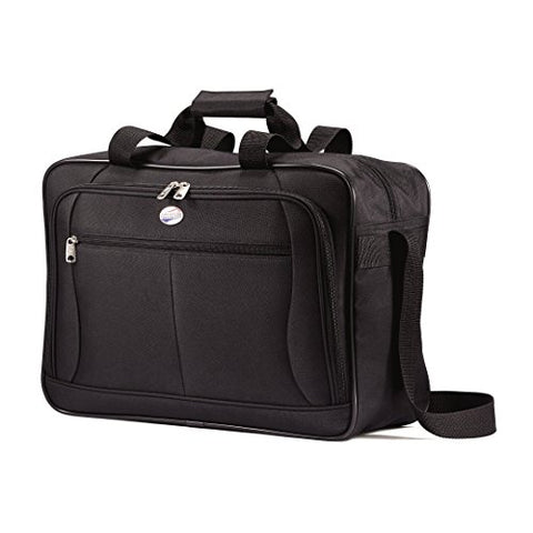 American Tourister Luggage Pop Extra Carry on Boarding Bag (One Size, Black)