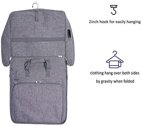 Magictodoor Anti-Gravity Carry On Garment Bag for Travel /& Business 42 w//Anti-theft Tsa Lock