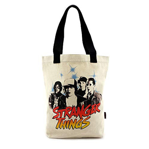 Loungefly x Stranger Things Black & White Character Canvas Tote Bag