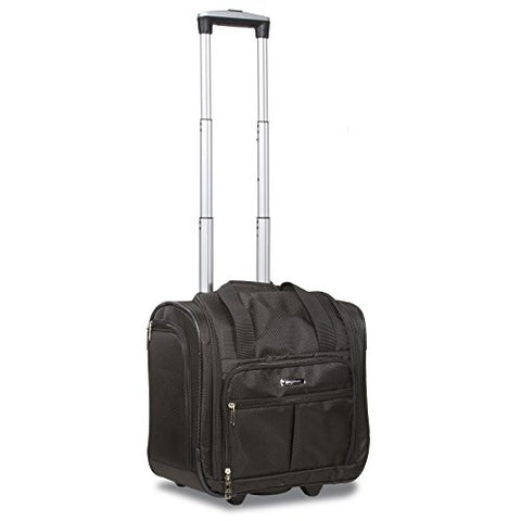 "Dejuno Lightweight Wheeled 15"" Underseater Carry-On Luggage, Black"