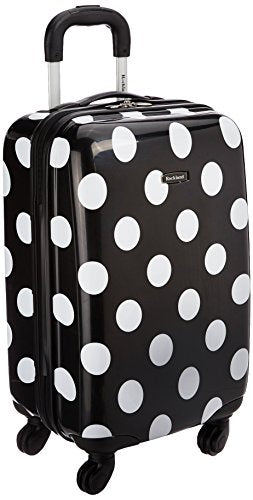 Rockland Luggage 20 Inch Carry On, Black Dot, Medium