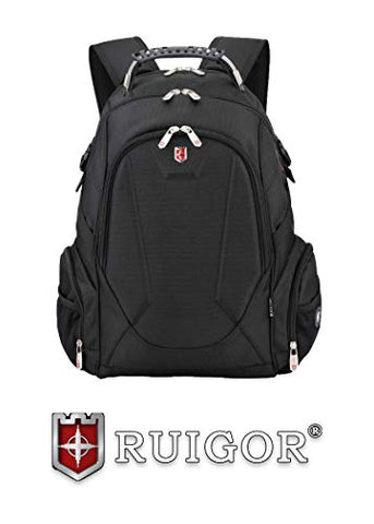 "Ruigor Laptop Travel College Business Backpack, Water Resistant Gaming Bag for Men and Women, Fits up to 15.5"" Computer, ICON 08 by Swiss"