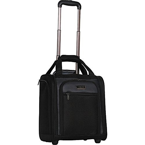 Kenneth Cole Reaction 1200D Polyester 2-Wheel Underseater / Carry On, Black