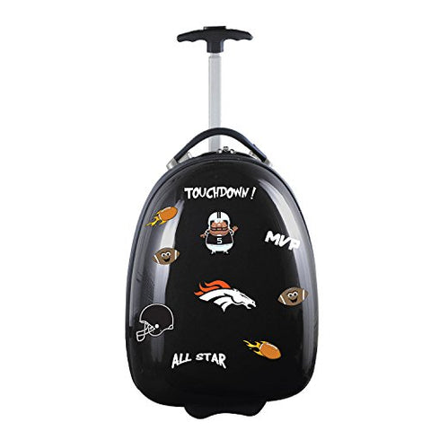 Nfl Denver Broncos Kids Lil' Adventurer Luggage Pod, Black