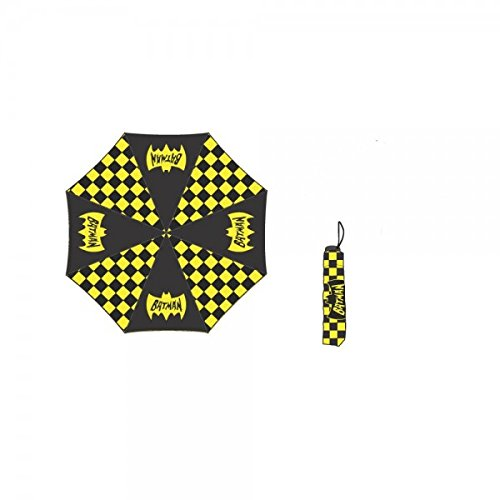 Batman Checkered Pattern Compact Umbrella