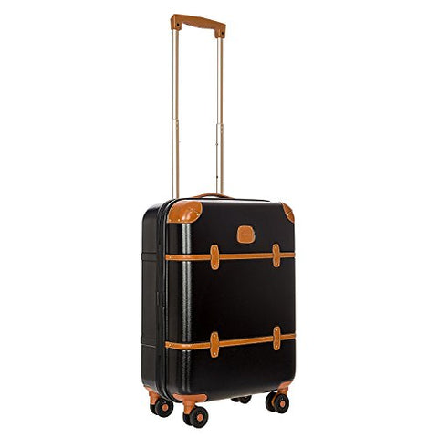 Bric'S Luggage Bellagio Ultra-Light 21 Inch Carry On Spinner Trunk (One Size, Black/Tobacco)