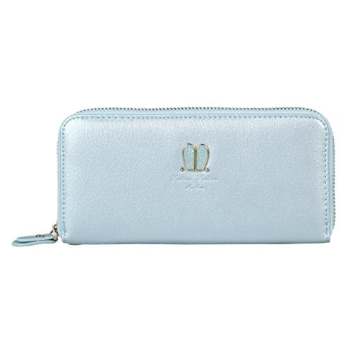 Damara Womens Travel Wallet with Lovely Rabbit Ear Decoration,Blue