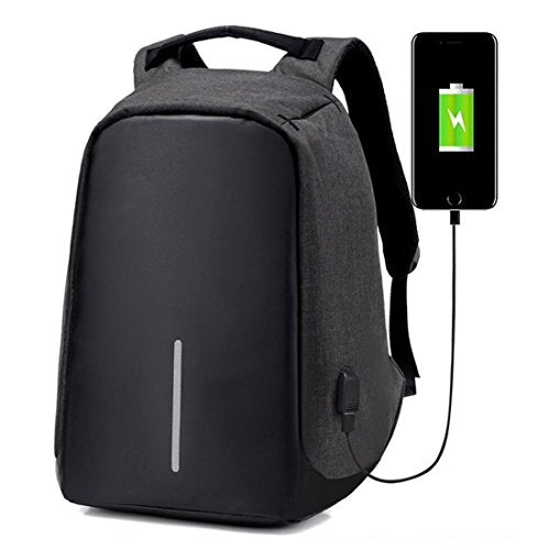 Anti-theft Business Laptop Backpack School Bag with USB Charging Port for College Student Work Men & Women Camera Bag BLACK
