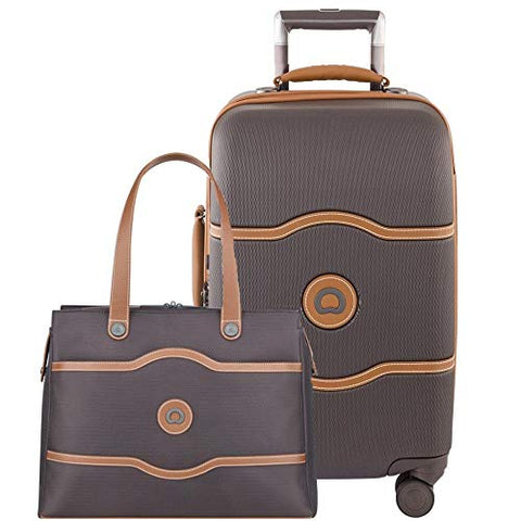 Delsey Chatelet Plus Carry-On Set Chocolate