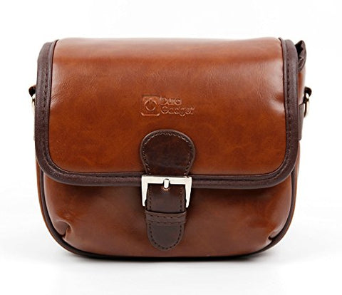 DURAGADGET Small Brown PU Leather Satchel Carry Bag - Compatible with The Loewe Klang M1