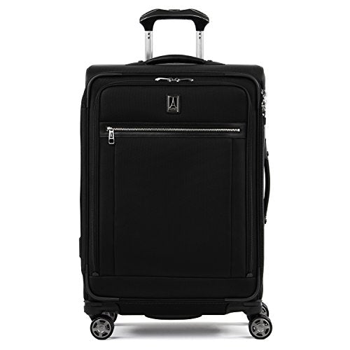 "Travelpro Luggage Platinum Elite 25"" Expandable Spinner Suitcase w/Suiter, Shadow Black"