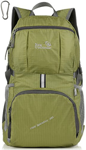 Outlander Packable Lightweight Travel Hiking Backpack Daypack (New Green)