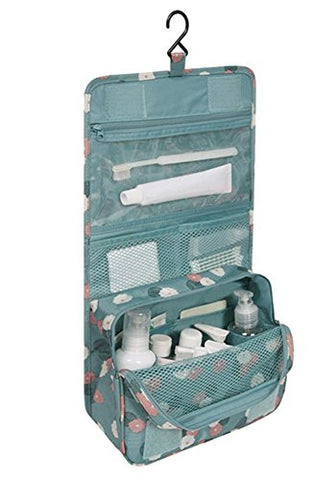 Damara Portable Folding Travel Bag Organiser Insert Tidy Cosmetic Pocket,Blue