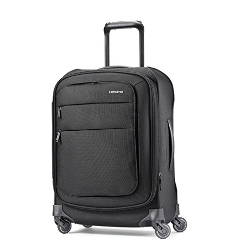Samsonite Flexis Expandable Softside Carry On Luggage With Spinner Wheels, 20 Inch, Jet Black