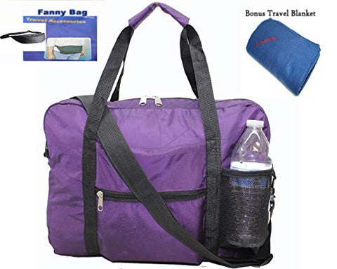 "Boardingblue Under Seat 18"" Foldable Duffel Bag Personal Item for American Airlines + Bonus Free"
