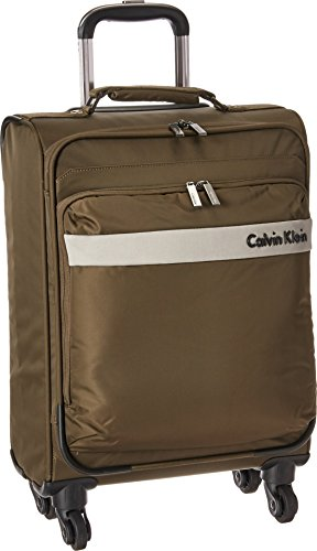 "Calvin Klein Unisex Flatiron 3.0 21"" Upright Suitcase Brown Luggage"