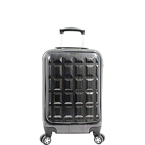 "Chariot Duro 20"" Carry-on Hardside 4 Wheel Spinner Luggage with Laptop Pocket Grey"