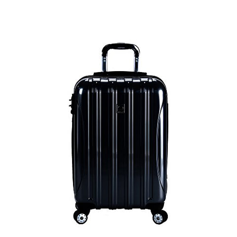 DELSEY Paris Delsey Luggage Helium Aero Carry On Expandable Spinner Trolley (Black)