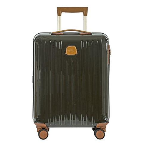 Bric's Capri 21 Inch International Carry On Spinner, Olive Shiny