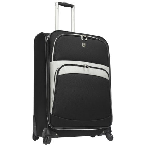 "Travelers Choice Beverly Hills Country Club 25"" Spinner Luggage, Black"