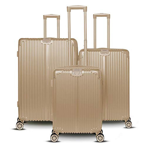 Gabbiano Macan Collection 3 Piece Hardside (Champagne)