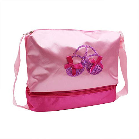Aibearty Girls Ballet Bags Messenger Shoulder Bag with Adjustable Strap for Shoes Towel Slippers