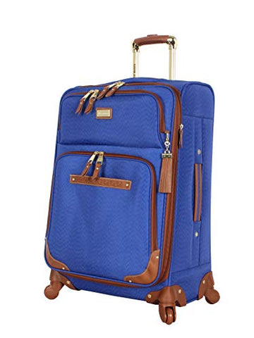 "Steve Madden Luggage Midsize Softside 24"" Expandable Suitcase With Spinner Wheels (24In, Blue)"