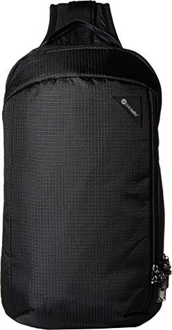 PacSafe Vibe 325 Anti Theft Crossbody Casual Daypack Jet Black One Size