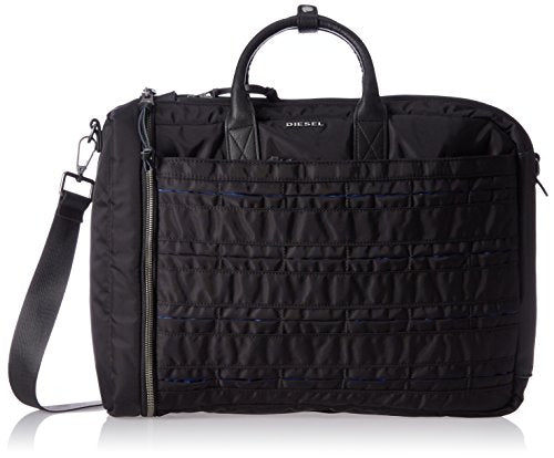Diesel Men'S 24/7 Briefcase, Black/Blue