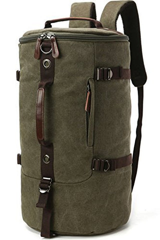 Aidonger Travel Bag Carry on Bag Barrel Hiking Backpack (Army Green)