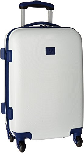 "Anne Klein Palm Springs 20"" Hardside Carry-On Spinner Luggage, White/Navy"