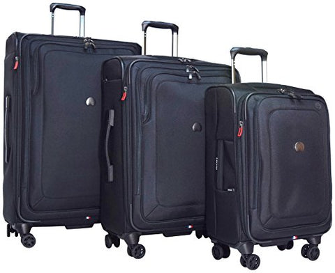 "Delsey Luggage Cruise Lite Softside 3 Piece Set (21""/25""/29"") Spinner Suitcase (Black)"