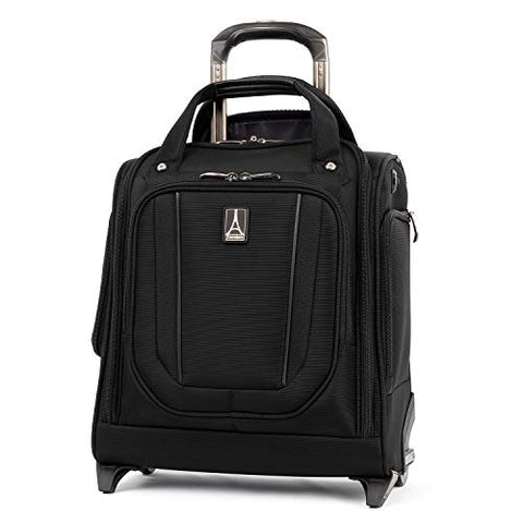 Travelpro Crew Versapack Rolling Underseat Carry-on, Jet Black