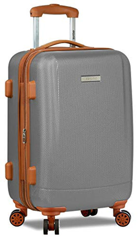 Dejuno Legion Hardside Spinner TSA Combination Lock Carry-on Suitcase-Silver