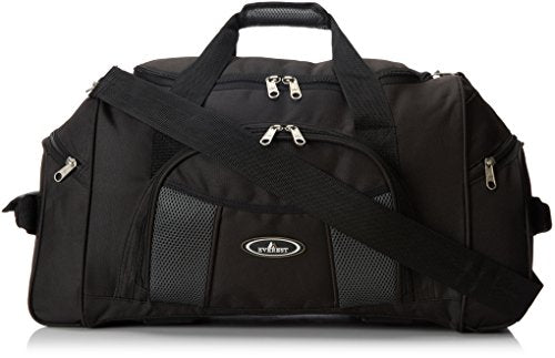 Everest Deluxe Sports Duffel, Black, One Size