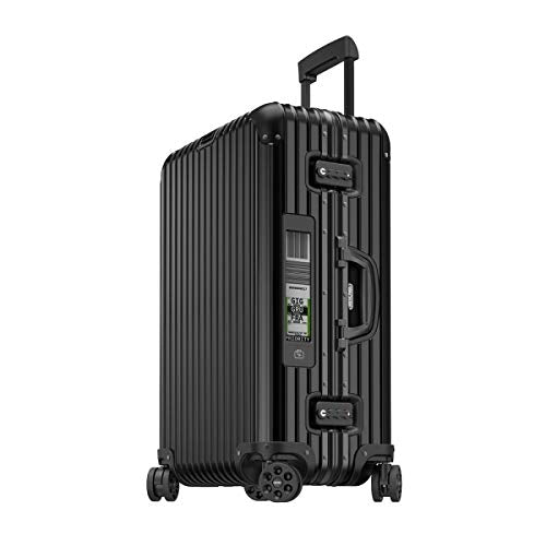 RIMOWA Topas Stealth Alu Premium Collection Suitcase Black 67L Electronic Tag