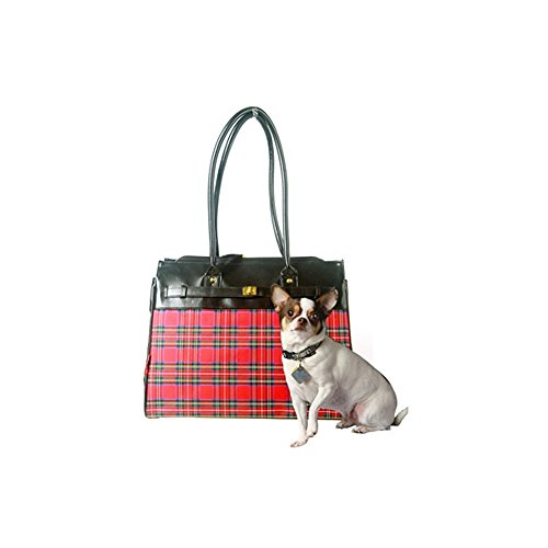 "Bark-n-Bag 16"" x 12.5"" x 8"" Tartan Collection Monaco Tote Pet Carrier, Small"