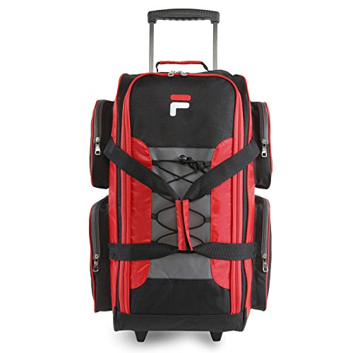 "Fila 26"" Lightweight Rolling Duffel Bag, Red One Size"