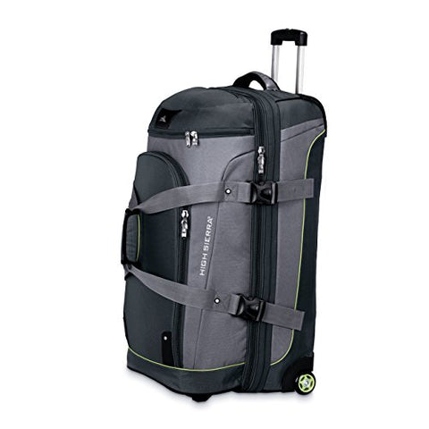 "High Sierra 32"" Drop Bottom Wheeled Duffle (Graphite/Titanium/Spring)"