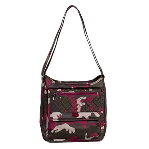 Lug Women'S Hopscotch, Brushed Camo Berry Shoulder Bag, Br Cream Cranberry, One Size