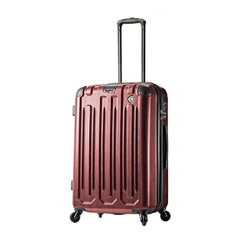 Mia Toro Italy Lustro Hardside 28 Inch Spinner Luggage - Burgundy