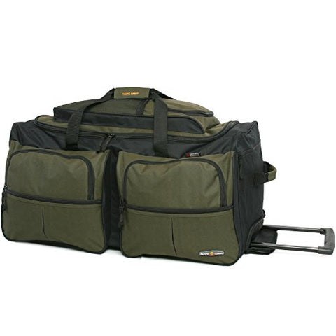 "Pacific Coast Signature 30"" Large Rolling Lug Duffel Bag, Olive"