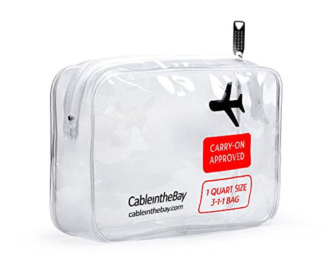 Tsa Approved Clear Travel Toiletry Bag | Quart Sized With Zipper | Airport Airline Compliant Bag