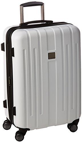 Calvin Klein Cortlandt 3.0 24 Inch Upright Suitcase, White, One Size